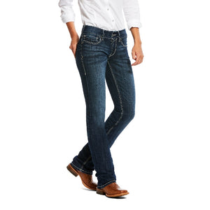Ariat REAL Mid Rise Straight Willow Dresden 3D Denim Jean