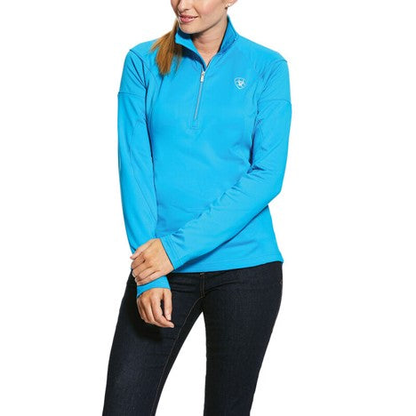 Ariat Tolt 1/4 Zip Tech Fleece Top, Nautilus