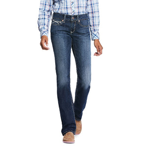 Ariat R.E.A.L. Mid Rise Stretch Brianne Straight Leg Denim Jean