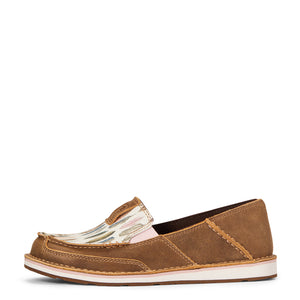 Ariat Cruiser Casual Shoe, Brown Bomber/Watercolor Feather