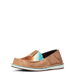 Ariat Cruiser Casual Shoe, Tan Suede/Saddle Blanket Print