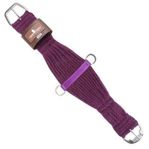 Classic Equine Mohair Roper Cinch- Purple