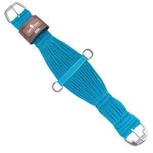 Classic Equine Mohair Roper Cinch, Turquoise