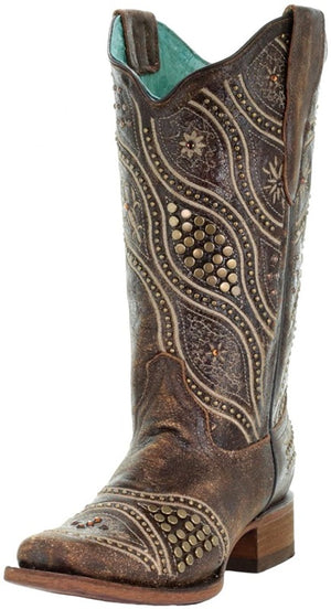 Corral Womens Gold Studded Boot