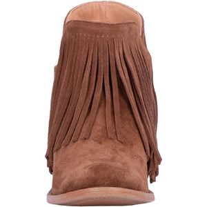 Dingo Fringe Jerico Whiskey Suede Leather Bootie