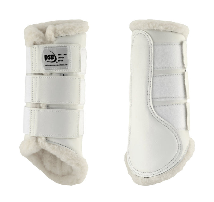 Dressage Sport Boot, White/White Fleece