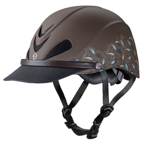 Troxel Dakota Helmet, Brown & Teal Paisley