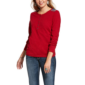 Ariat Women's Laylow R.E.A.L. Serape Accent Tee, Red