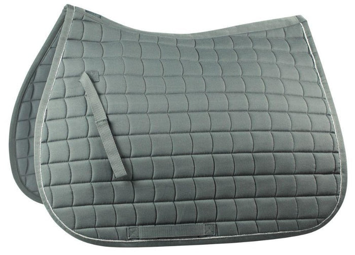 Horze All Purpose English Saddle Pad, Charcoal Grey