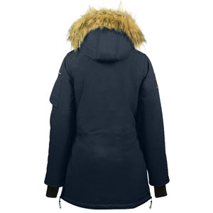 Horze Brooke Long Parka Jacket - Navy Blue