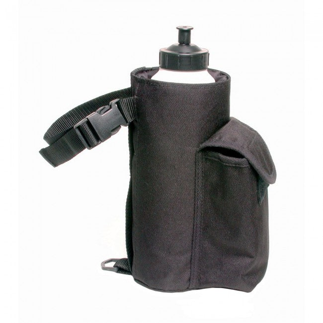 Insulated Water Bottle & Cell Phone Pouch, Black