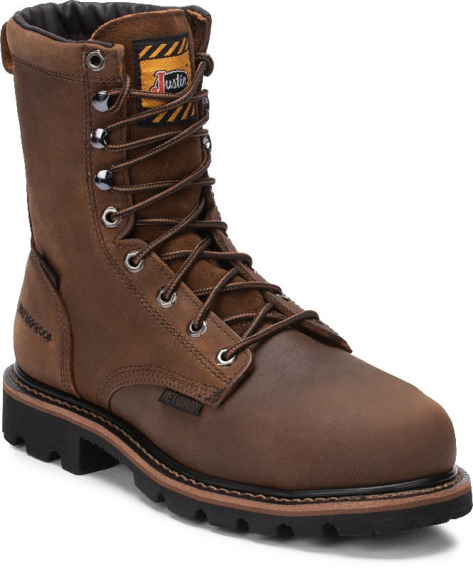Justin Pulley Waterproof Work Boot
