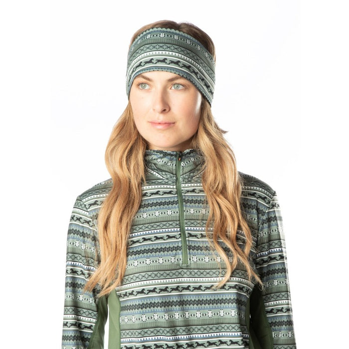 Kerrits Fair Isle Fleece Headband, Cypress