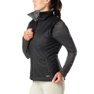 Kerrits Bit of Puff Quilted Vest, Black