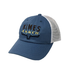 Kimes Ranch Southwest Trucker Cap-Blue SALE