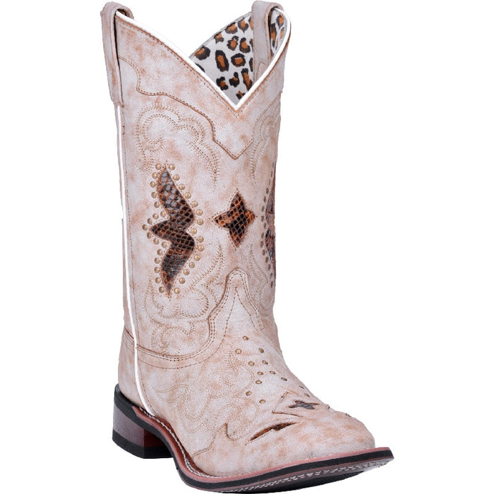 Laredo Spellbound Leather Boot- Bone