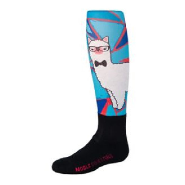 Noble Over The Calf Peddies Equestrian Sock-Llama