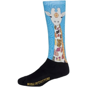 Noble Over The Calf Peddies Equestrian Girl's Sock-Giraffe