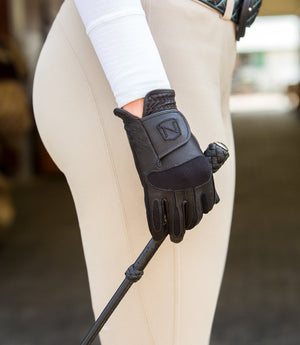 Noble Equestrian Ready To Ride Glove, Black