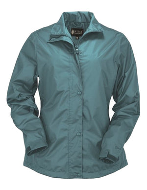 Outback Trading Harper Packable Rain Waterproof Jacket, Turquoise