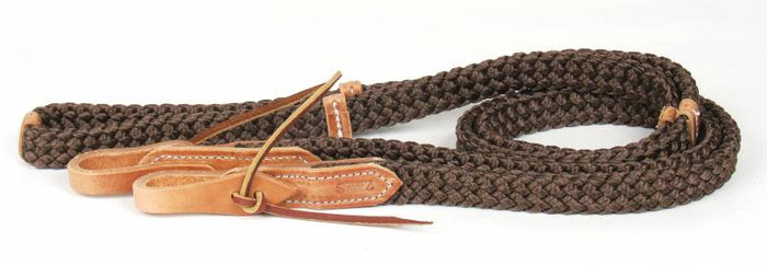 Quiet Control Single Rein with Hand Placement Markers, Brown