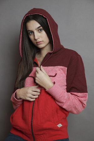 Kimes Ranch Bandero Zip Hoodie - Red SALE