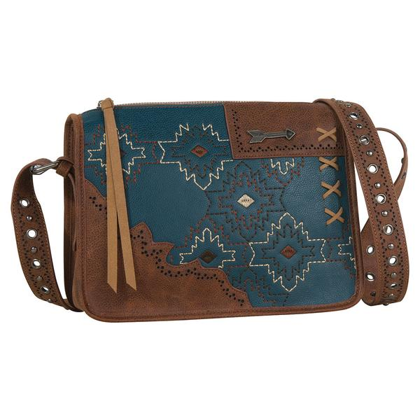 Catchfly Fate Crossbody, Turquoise Embroidery