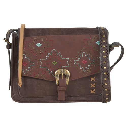Catchfly Christi Small Crossbody, Chocolate