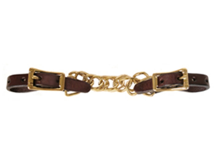 Tucker Curb Chain, Brown with Brass
