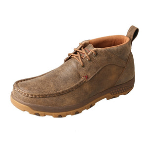 Mens Twisted X Chukka Driving Moc with CellStretch - Bomber
