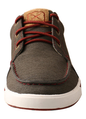 Twisted X Hooey Kicks, Dark Grey/Barn Red