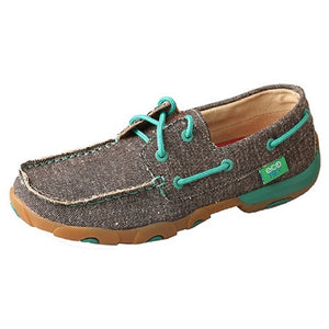 Twisted X Womens Eco Lace Up Driving Moccasin, Dust