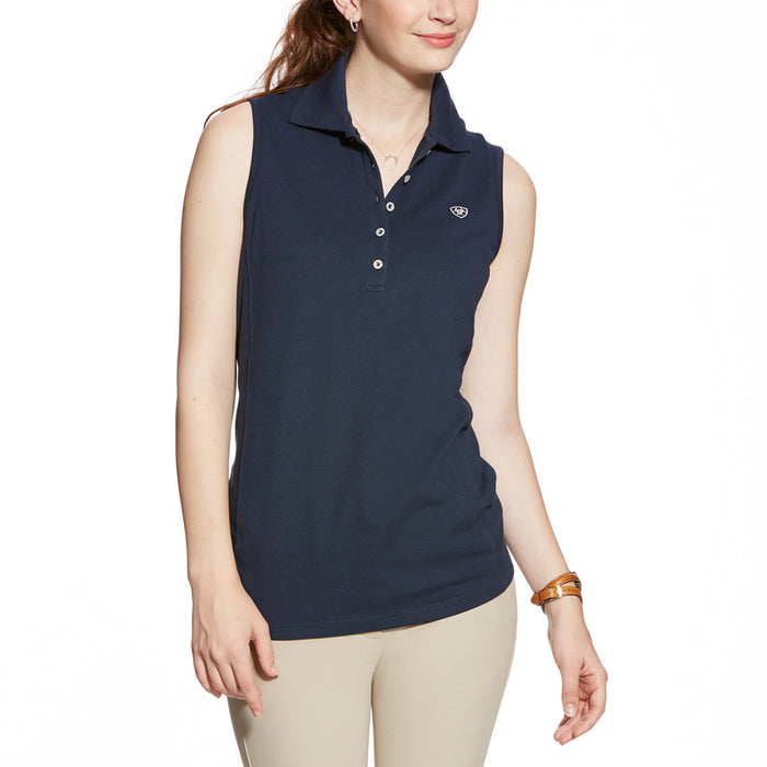 Ariat Prix Sleeveless Polo Shirt Navy Blue (XS ONLY)