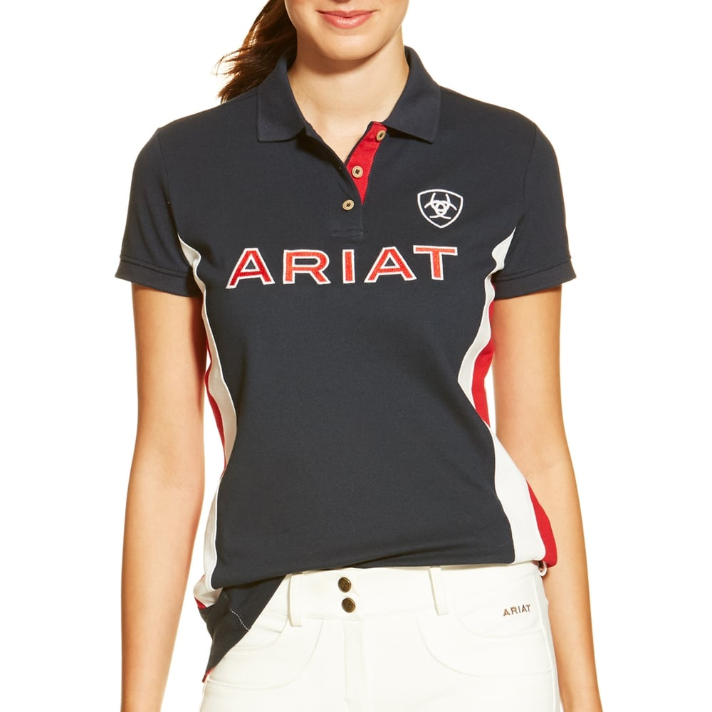 Ariat New Team Polo, Red/White/Blue (XSMALL Only)