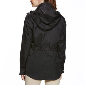 Ariat Burney Black Waterproof Parka Raincoat (SMALL, XLARGE)
