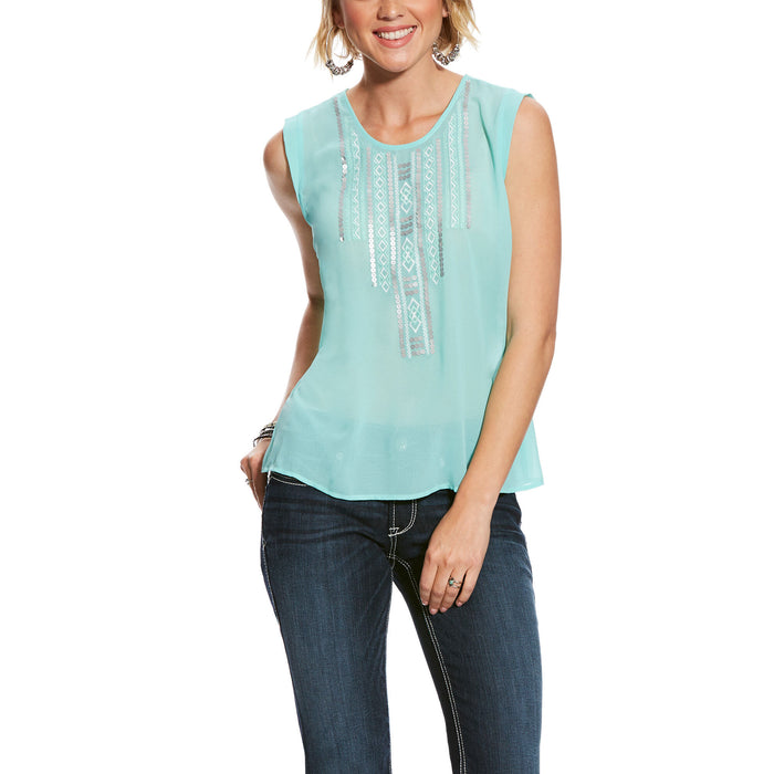 Ariat Oasis Sequined Summer Tank Top