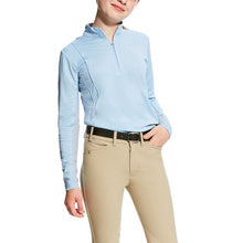 Kids Ariat Sunstopper VentTEK Blue Shirt