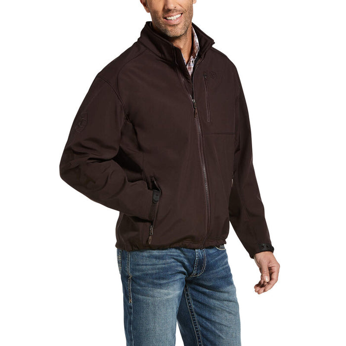 Ariat Logo 2.0 Patriot Softshell Water Resistant Jacket, Brown