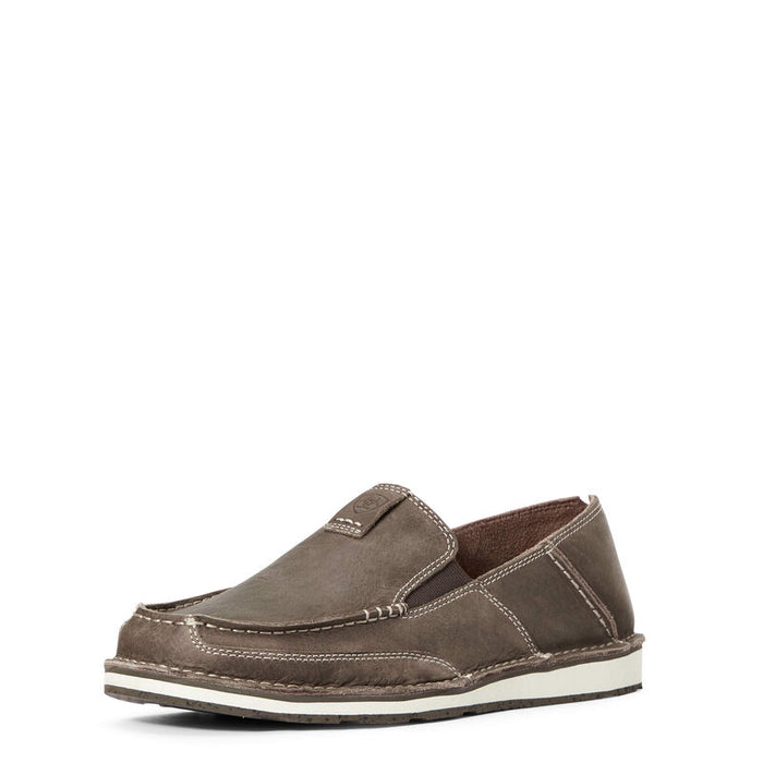 Mens Ariat Slip On Eco Cruiser, Barbed Brown