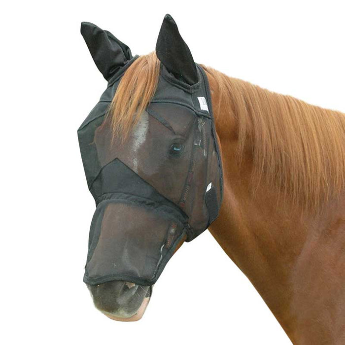 Cashel Quiet Ride Fly Mask, LONG NOSE WITH EARS
