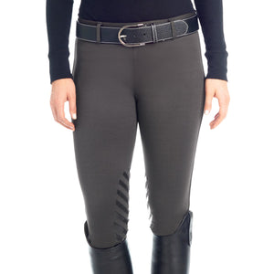 Ovation Winter Pull On Silicone Knee Patch Breech, Charcoal/Black