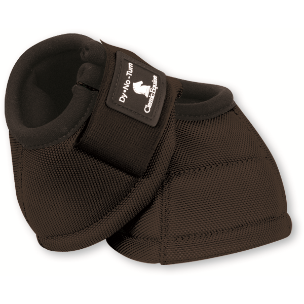 Classic Equine Dyno Turn Bell Boots, Black