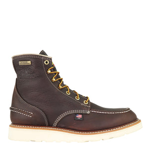 "Thorogood 6"" Briar Pitstop Moc Toe Wedge Sole Workboot"