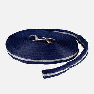 Horze Soft Orbit Lunge Line, Dark Blue/Gray