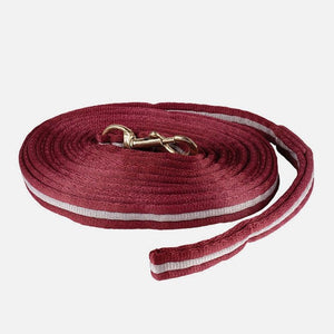 Horze Soft Orbit Lunge Line, Dark Red/Gray