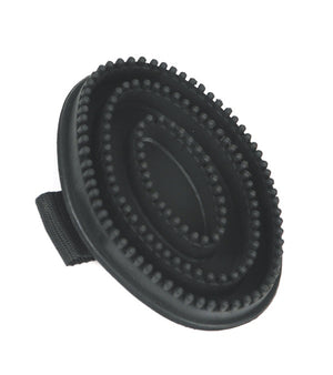 Rubber Curry Comb, Black Soft Nubby Buttons