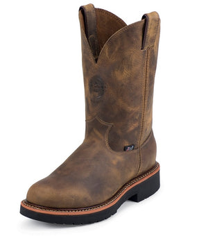 Men's Justin Blueprint Pullon Tan Gaucho 11 Work Boot