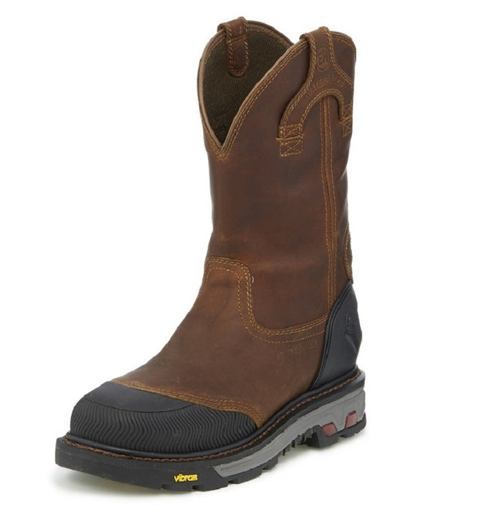 Men's Justin Warhawk Chestnut Waterproof Comp Toe Work Boot