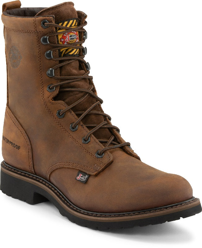 Justin Drywall Waterproof 8 Work Boot