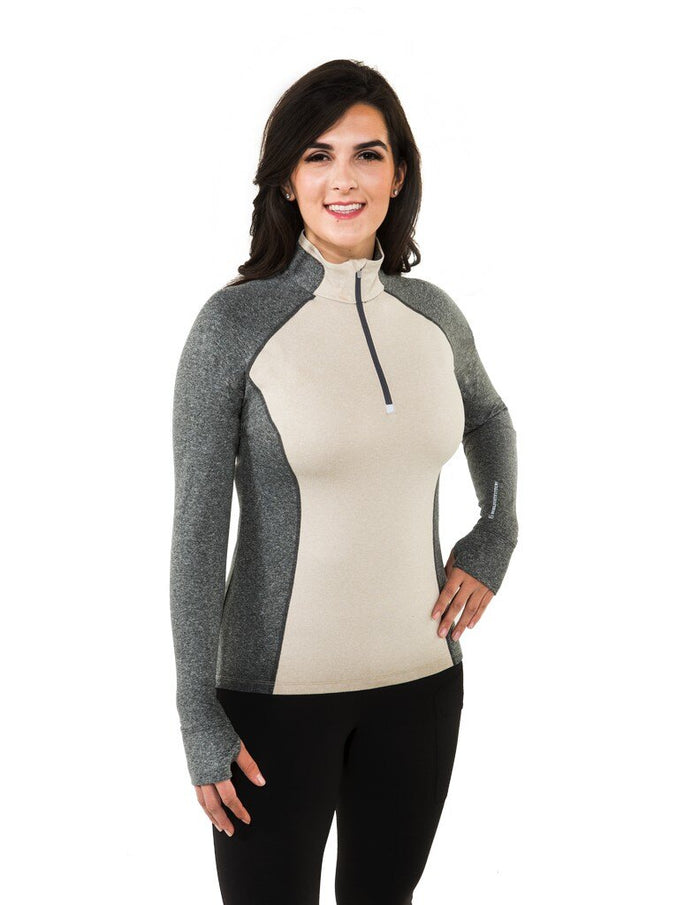Noble Athena Tech Top, Oatmeal/Grey (XSMALL & SMALL Only)